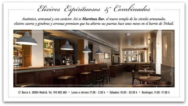 "Madrid: Coctelería ""Martínez Bar"" en Calle Barco nº 4"