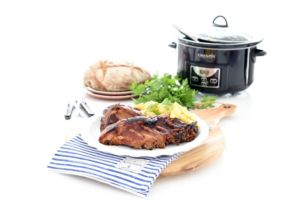 Costillas a la barbacoa en Crock Pot®