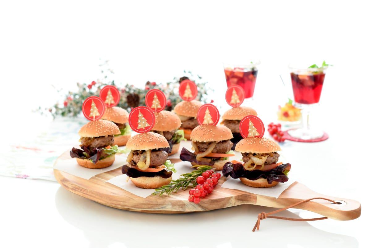 Hamburguesas mini para fiestas