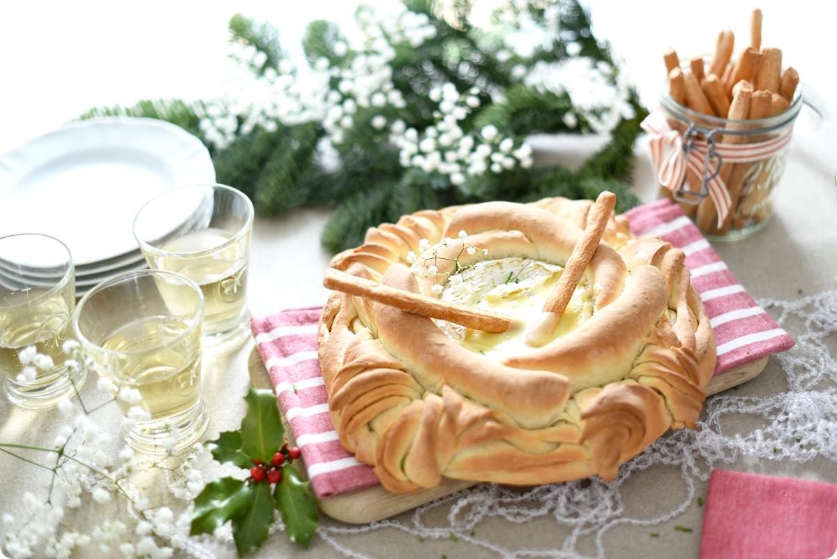 Pan Camembert, con queso fundido