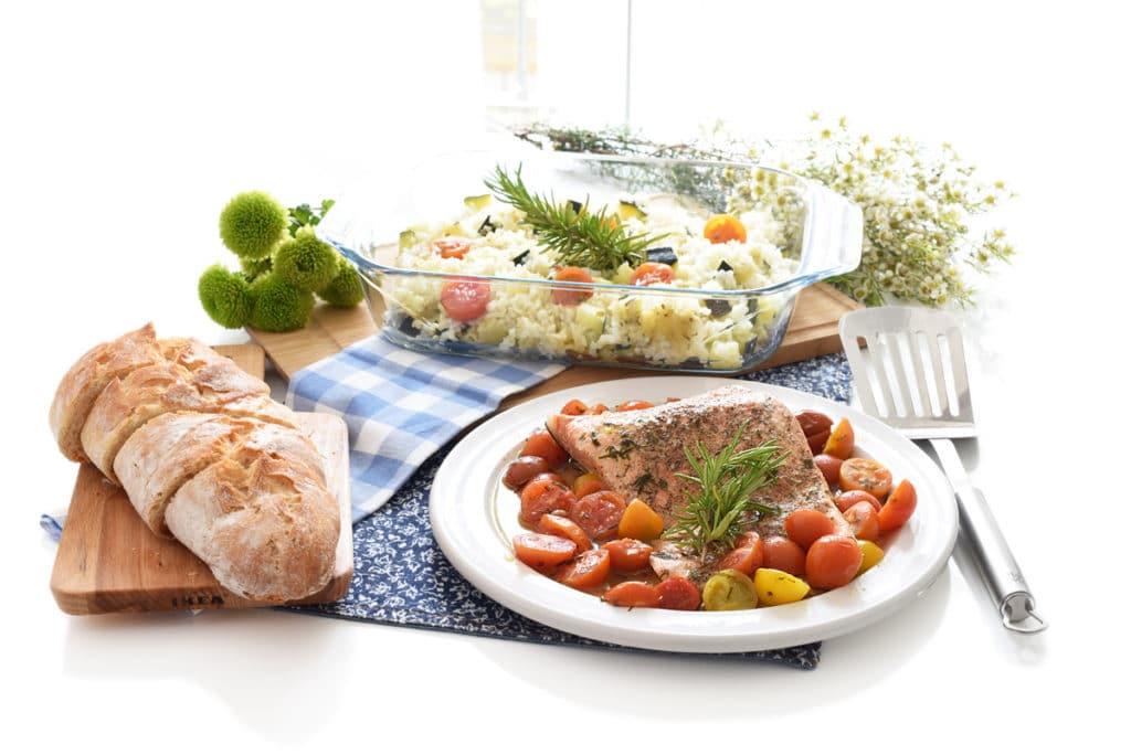 Arroz con salmón en Thermomix®
